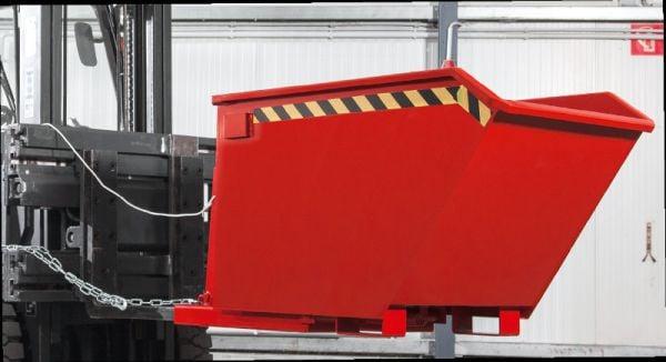 Späne-Kippbehälter 1500 l, B 1330 x T 1570 x H 980mm, Tragkraft bis 2000 kg