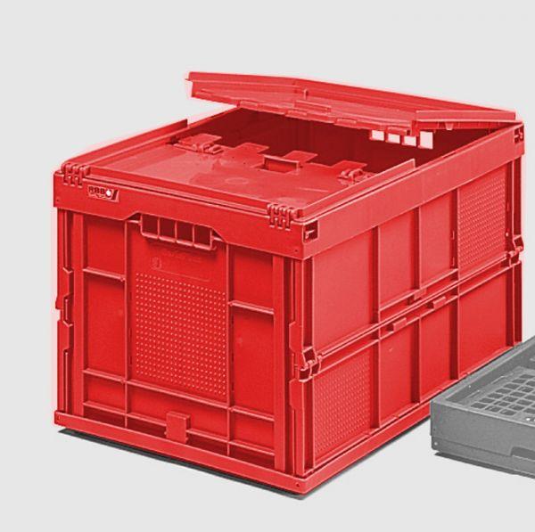 Faltbox mit Klappdeckel, 62 Liter, 600x400x330mm