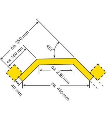 Eckplanke Innenecke für Rammschutz-Planken