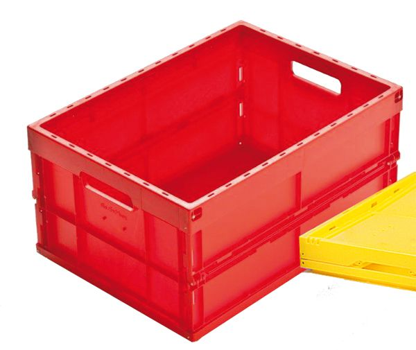 Faltbox, gelb, 32 Liter, geschlossene Seitenwände, 475x350x240mm