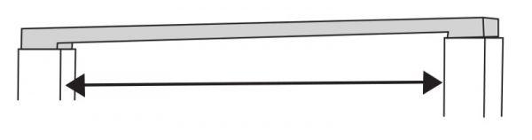 Meter Regalverbinder-oben lichtgrau Serie K 70-BV