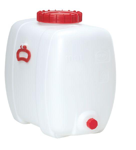 Ovalfaß, 100 Liter, weiß, 650x410x580mm